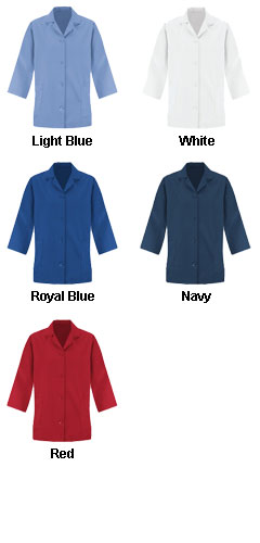 Womens Loose Fit Button Smock - 3/4 Sleeve  - All Colors