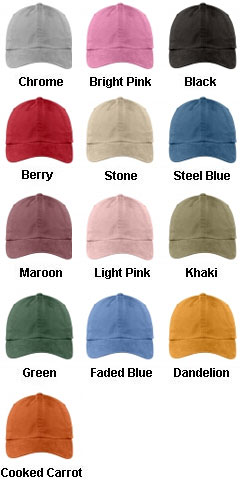 Garment Washed Cap in 13 colors - All Colors