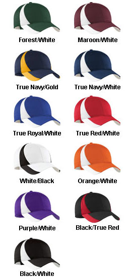 Adult Dry Zone� Nylon Colorblock Cap - All Colors