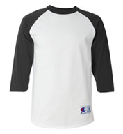 Custom Champion 100% Cotton Raglan Sleeve Baseball Tee Mens