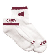 Custom Girls Megaphone Cheerleader Socks