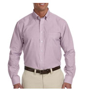 Chestnut Hill Mens Performance Broadcloth Dress Shirt