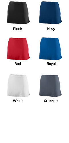 Girls Poly/Spandex Team Skort - All Colors