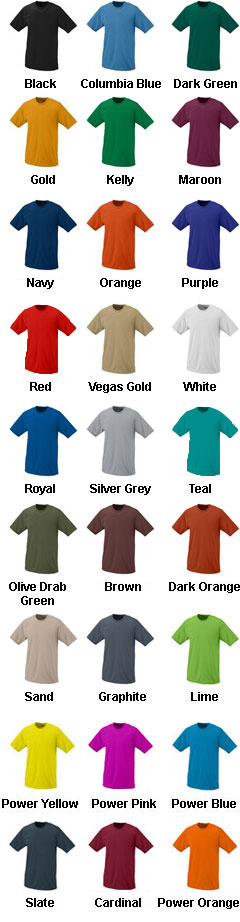 Augusta Youth Short Sleeve Moisture Wicking T-shirt - All Colors