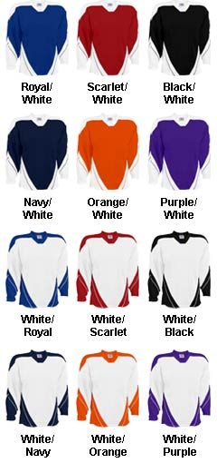 Adult Breakaway Hockey Jersey With Incline Design - All Colors