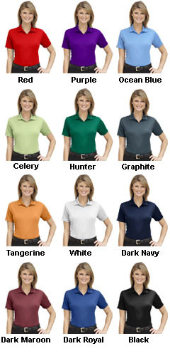 Ladies Moisture Management Polo    - All Colors
