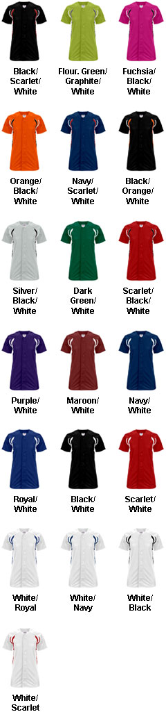 Girls Changeup Full Button Softball Jersey - All Colors