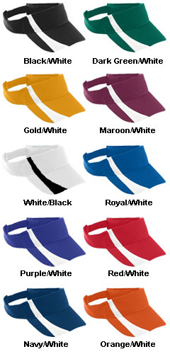 Adult Adjustable Wicking Mesh Two-Color Visor - All Colors