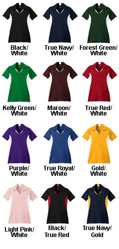 Ladies Side Blocked Micropique Sport-Wick� Coaches Polo - All Colors