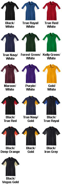 Custom Mens Side Blocked Micropique Sport-Wick� Coaches Polo Shirt - All Colors