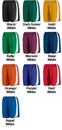 Youth Wicking Track Short with Side Insert - All Colors