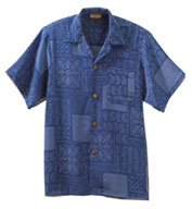 South Seas Geometric Print Camp Shirt