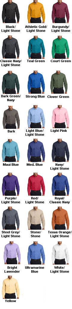 Mens Long Sleeve Easy Care Shirt - All Colors