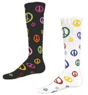 Custom Intermediate Multi Sport Give Peace A Chance Peace Socks