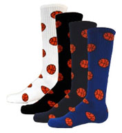 Custom Intermediate Red Lion Basketball Socks