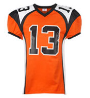 Custom Adult Red Zone Steelmesh Football Jersey Mens
