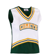 Girls Scorpion Cheer Shell with 5 Stripe Trim