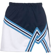 Custom Adult 2 Color A-Line Cheer Skirt With Trim
