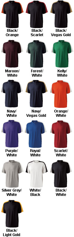 Strength Moisture Wicking Color Block Tshirt by Holloway - All Colors