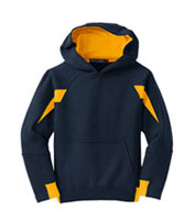 Youth Sport-Tek® - Color-Spliced Pullover Hooded Sweatshirt