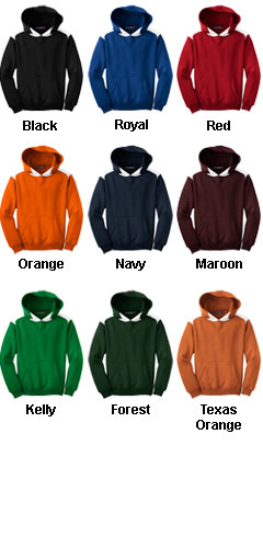 Youth Sport-Tek® Contrast Color Pullover Hooded Sweatshirt - All Colors