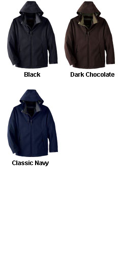 Mens Insulated Soft Shell Jacket With Detachable Hood - All Colors
