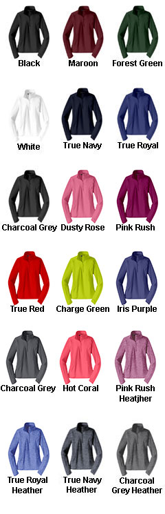 Ladies Sport-Wick� Stretch 1/2-Zip Pullover - All Colors