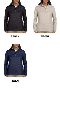 Ashworth Ladies Houndstooth Half-Zip Jacket - All Colors