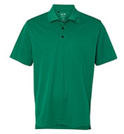 Adidas Golf Mens ClimaLite® 3-Stripes Cuff Polo