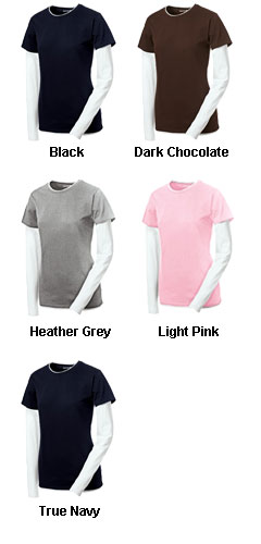Ladies Long Sleeve Double Layer T-Shirt - All Colors
