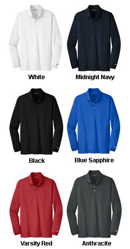 Nike Golf Long Sleeve Dri-FIT Stretch Tech Polo - All Colors