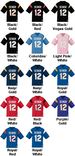Custom Adult Pep Rally Replica Football Fan Jersey - All Colors