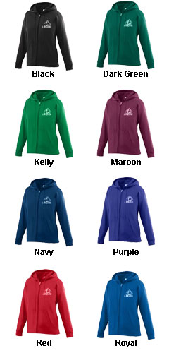 Girls Wicking Fleece Full Zip Hooded Sweatshirt - All Colors