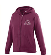 Girls Wicking Fleece Full Zip Hooded Sweatshirt