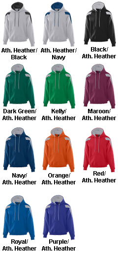 Youth Heavyweight Color Block Hooded Sweatshirt - All Colors