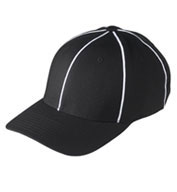 Black w/ White Football Referee Cap - Size Large/XLarge