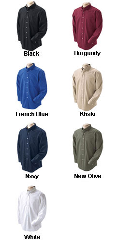 Devon & Jones Mens Pima Advantage Long-Sleeve Twill - All Colors
