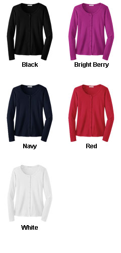 Ladies Silk Touch™ Interlock Cardigan - All Colors