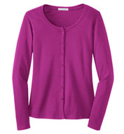 Ladies Silk Touch™ Interlock Cardigan