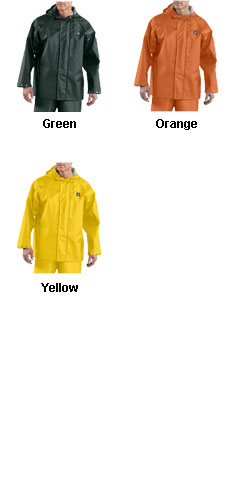 Mens Carhartt Lightweight PVC Rain Coat - All Colors
