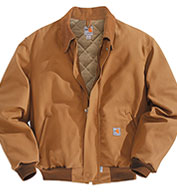 Custom Carhartt Flame-Resistant Duck Bomber Jacket/Quilt-Lined Mens