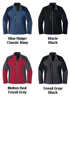 Ladies Color-Block Soft Shell Jacket - All Colors