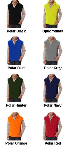 Adult Polar Fleece Vest - All Colors