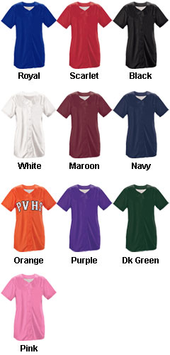 Womens Infinity Solid Faux Full Button Down Jersey - All Colors
