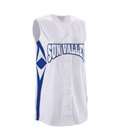Girls Supernova Sleeveless Faux Full Button Softball Jersey