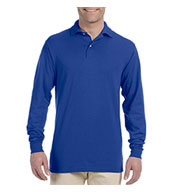 Custom Jerzees Mens Long-Sleeve 50/50 Jersey Knit Polo with SpotShield™
