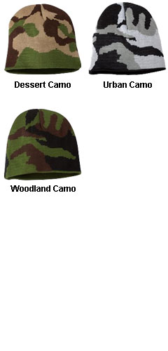 Bayside - Camouflage Knit Beanie - All Colors