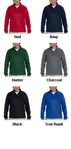 Harriton 8 oz Quarter Zip Fleece - All Colors