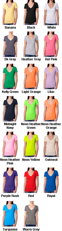 Next Level Ladies Cotton Deep V-Neck T-Shirt - All Colors