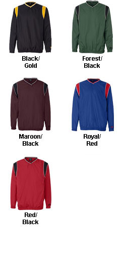 Rawlings V-Neck Micro Poly Windshirt - All Colors